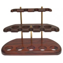 9 Smoking Pipes Stand Rack Hold Case Display Wood Pipe