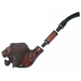 8.12 inch First Class Pipe Hand Carved Tobacco Smoking Pipe Lion