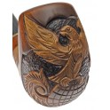 HAND CARVED, Fashion SMOKING PIPE PEAR * EAGLE on Globe * Made by Artisan Handmade Pipe
