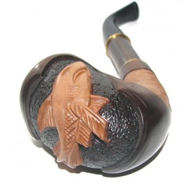 New Wooden 7.2 inch Hand Carved Tobacco Smoking Pipe Shark