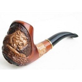 Tiger on Tree 5.6 inch Hand Carved Tobacco Smoking Pipe