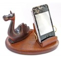 Wooden Universal Hand Carved Stand Case Display *DRAGON* For IPhone PDA SmartPhone
