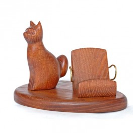 Stand for iPhone etc Mobile Cell Phone Holder Universal Wooden Mobiles * CAT *