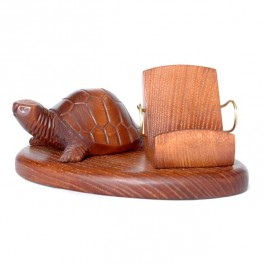Universal Wooden Hand Carved Stand Case Display * Turtle * IPhone PDA SmartPhone