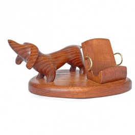 HANDMADE Wooden Desktop Holder for iPhone ,PDA, Smartphone, * Dachshund Dog *