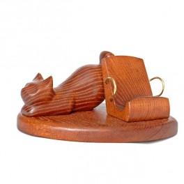 Luxury Cell Phone Wooden Stand Holder Desktop, Universal, Natural Ukrainian Wood