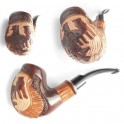 * Austrian Eagle * Hand Carved Wooden Tobacco Smoking Pipe, Handmade for 9 mm filter