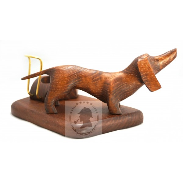Attractive Wooden Stand for Pipe Dachshund Dog Rack Tobacco Smoking Pipes  DA23